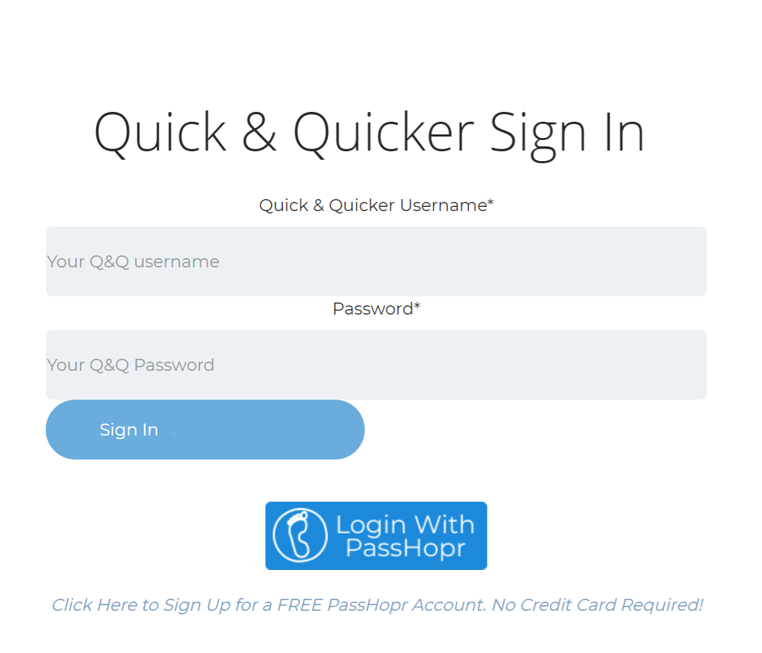 A few lines of code added to your signin page provides the a PassHopr signin button to customers
